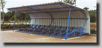 CURVED ROOF CYCLE SHELTER