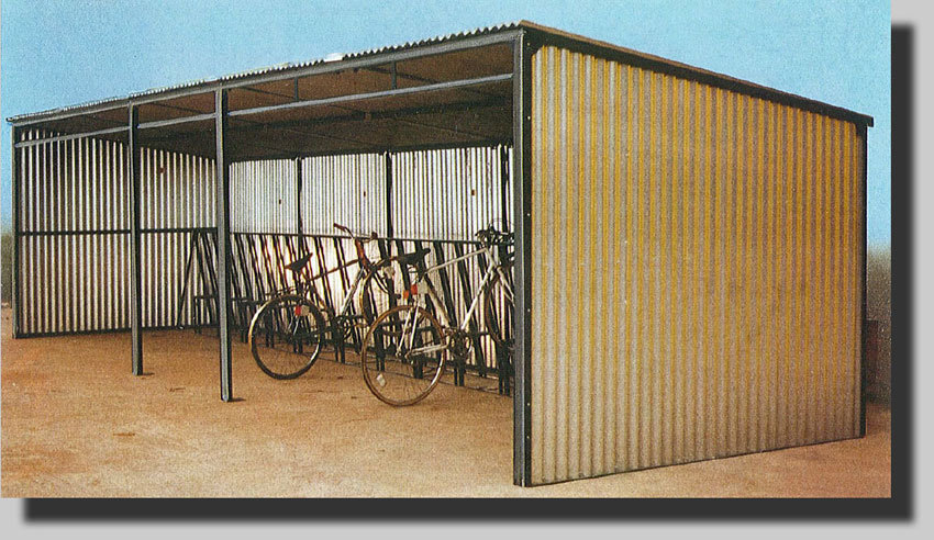 Atlas All-Steel Open Fronted Shelter